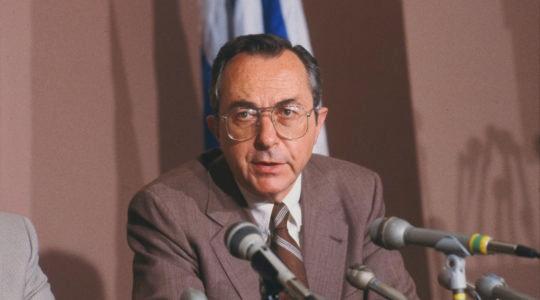 Israeli Ambassador to United States Moshe Arens in 1982.