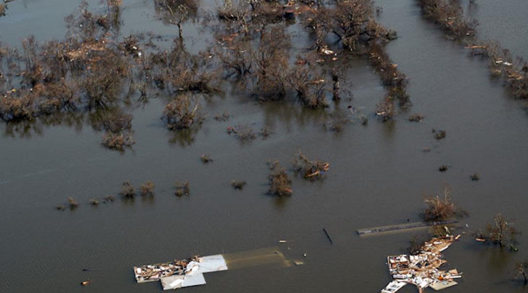 Flooding in Venice, La., after Hurricane Katrina
