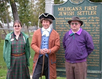 Historians and family members gathered to celebrate Michigan´s first Jew.  (Flo Shortt)