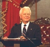 "Sen. Robert Byrd (D.-W. Va.), who says the U.S. should ""use foreign aid as a tool to leverage peace"" between Israelis and Palestinians, was not pleased with the recently passed foreign aid bill. ()"