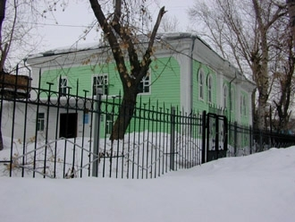 The synagogue in Omsk, Russia, that has switched from affiliation with the progressive movement to the Chabad-affiliated federation. (Ezra Nathan)