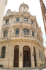 The newly restored Hotel Raquel, a 25-room boutique hotel in Old Havana that caters to Jewish tourists. (Larry Luxner)