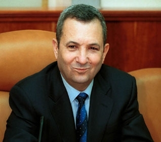 Then-Prime Minister Ehud Barak sits in his Jerusalem office in December 2000, the morning after he announced his resignation. (Brian Hendler)
