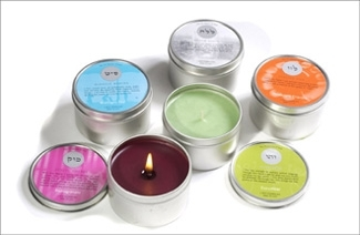 Candles, sold by the Kabbalah Centre, that are described as ´created according to ancient Kabbalistic aromatic formulas.´ (Kabbalah Centre)