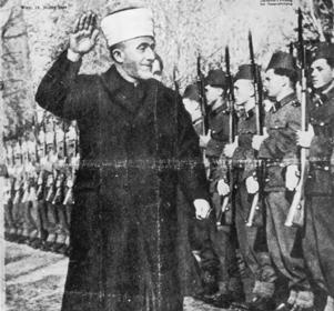 The mufti of Jerusalem, Haj Muhammed Amin al-Husseini, on the cover of a 1944 pro-Nazi Austrian publication. (Photo courtesy Edwin Black)