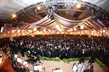 International Convention of Chabad Emissaries held Sunday in Brooklyn attracted 4,500 emissaries and supporters. (Meir Alfasi/Chabad.org)