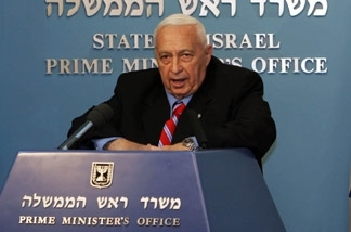 Israeli Prime Minister Ariel Sharon announces his withdrawal from the Likud Party and intention to form a new party to compete in upcoming elections, during a press conference on Nov. 21 in Jerusalem. (BP Images)