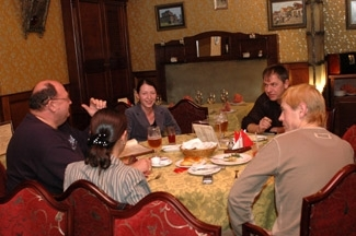 A Local Jewish Family Dines In Kiev S Tsimmes Restaurant One Of Four