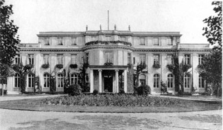 Villa Minoux, shown in this 1922 picture,  was the site of the 1942 Wannsee Conference, where the Nazis decided on the genocide of European Jewry. (Memorial and Educational Site of the Wannsee Conference)