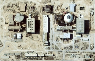 Iran's nuclear programs, including this nuclear site at Bushehr in the Iranian desert, are under international scrutiny. (Courtesy Digital Globe/BP Images)