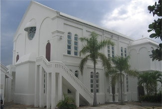 The 100-year-old Sha´are Shalom synagogue in Kingston, Jamaica. (Ainsley Henriques)