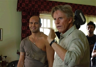 Actors Gary Busey, center, and Billy Zane, left, on the set of ´Valley of the Wolves: Iraq.´ ()