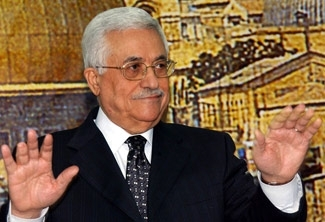 Palestinian President Mahmoud Abbas calls for presidential and parliamentary elections, during a televised speech on Dec. 16, 2006 in Ramallah. (PPO/BPH Images)