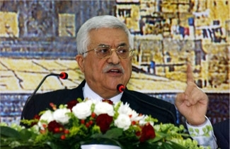 Palestinian President Mahmoud Abbas makes a speech on Dec. 16, 2006, calling for elections to be held at the earliest opportunity. ( PPO/BPH Images)