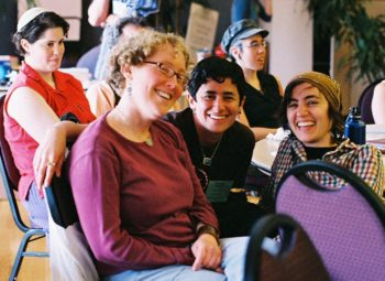Participants take part in the first national convention of Jewish Voice for Peace, April 29 in Oakland, Calif. (Cecilie Surasky)