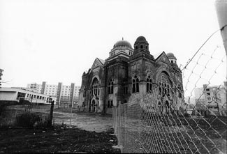 Officials in Lucenec, Slovakia, are trying to save the town´s rare synagogue. (Ruth E. Gruber)