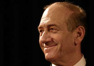 """Israeli President Ehud Olmert, shown here in 2006, faces criticism from Orthodox leaders because he """"did not explicitly resist Palestinian President Abbas' claim to a piece of Jerusalem.""""   (Brian Hendler)"""