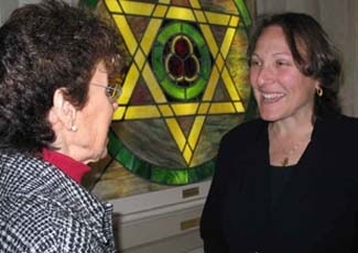 Rabbi Rosalind Glazer, right, a Reconstructionist rabbi, suspects she was hired a year ago by the merged Congregation Beth Israel-Judea in San Francisco to heal lingering differences in the synagogue. ()
