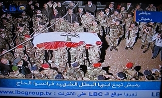 Lebanese troops carry the casket of Lebanese Gen. Francois Hajj at funeral service in Beirut on Dec. 14, 2007, two days after his assassination. (celinecelines/flickr/ Creative Commons)