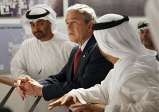 President Bush visits the Saadiyat Island Cultural District Exhibition and Masdar Exhibition on Jan. 14, 2008, at the Emirates Palace Hotel in Abu Dhabi.  (Eric Draper/ White House)