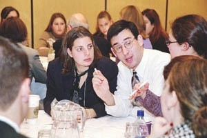 College students attend a roundtable discussion at the United Jewish Communities' General Assembly in Washington. (Robert A. Cumins)