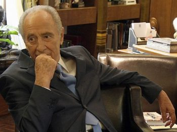 Israeli President Shimon Peres brought his famed optimism to an interview with JTA on April 6, 2008 by saying peace seekers will overcome sponsors of terror. (Brian Hendler)