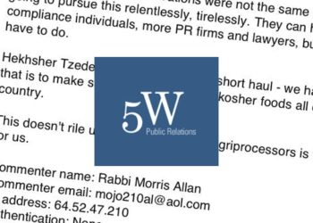 The publicity firm 5WPR is under the microscope after someone associated with the company impersonated a rabbi. (JTA Staff)