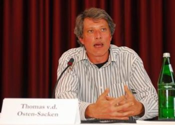 Wadi e.V. director Thomas von der Osten-Sacken says his group on a blog posting was only standing up for Israel's right to exist. (Lorenz Richter)