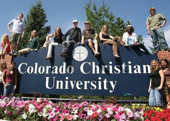 Students at Colorado Christian University, whose victory in a lawsuit over state funding for scholarships has some Jewish groups worried about the erosion of church-state separation. (Courtesy Colorado Christian University)