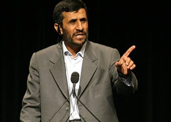 Iranian President Mahmoud Ahmadinejad at Columbia University in New York City on Sept. 24, 2007. (Daniella Zalcman/Creative Commons)