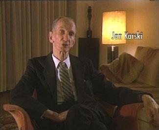 Jan Karski, a Polish messenger who warned the West about the Holocaust, tells his story in ´Messengers Without an Audience.´ (AVA Productions)