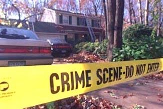 "The Cherry Hill, N.J., home of Rabbi Fred and Carol Neulander, shortly after Carol Neulander´s 1994 murder. (""Courtesy of The Courier Post, Cherry Hill, N.J."")"