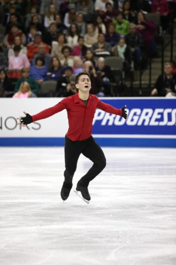 Max Aaron skates his way to a gold medal at the 2013 U.S. Figure Skating Championship in Omaha, Neb., January 2013. (Courtesy USFSA)