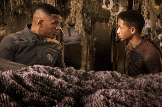 "Will and Jaden Smith in a scene from the 2013 film ""After Earth."" (Columbia Pictures)"