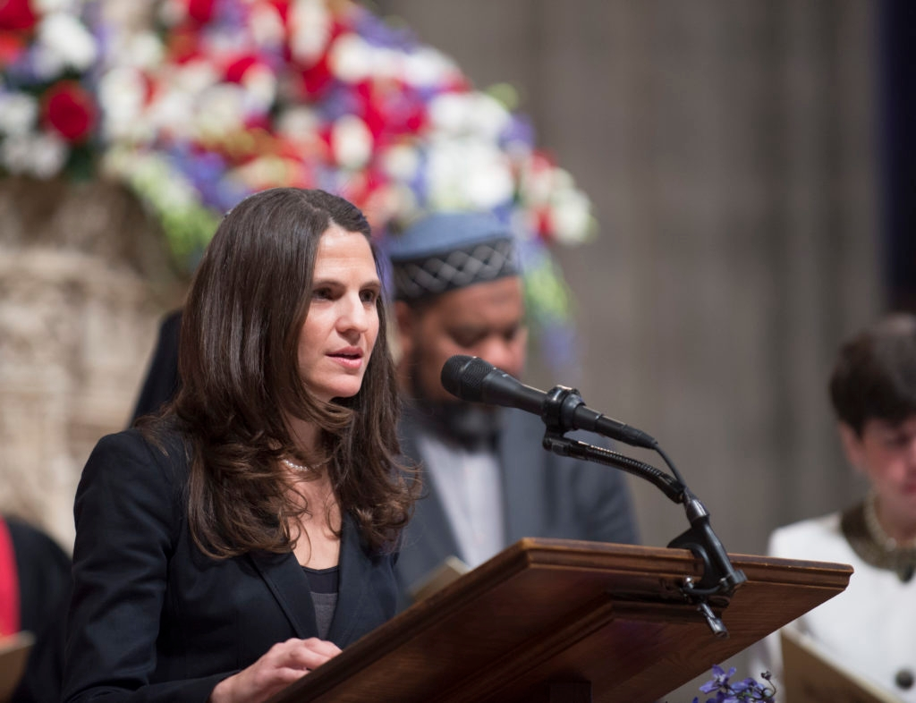 Rabbi Sharon Brous of the IKAR congregation in Los Angeles, was No. 1 on the Newsweek/Daily Beast list last year.  (Donovan Marks/Washington National Cathedral)