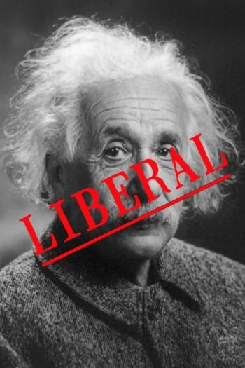 """Conservative blogger Andrew Schlafly says Albert Einstein's scientific theories are bad science and part of a """"liberal conspiracy."""" (JTA graphic/Library of Congress)"""