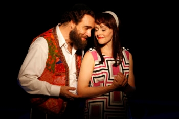 "Eric Anderson and Julie Osborne as Shlomo Carlebach and his wife, from the off-Broadway play ""Soul Doctor.""  (Carol Rosegg)"