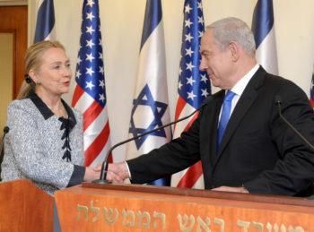U.S. Secretary of State Hillary Clinton meeting with Israeli Prime Minister Benjamin Netanyahu in Jerusalem, Nov. 20, 2012. (Avi Ohayon/ GPO/Flash90)