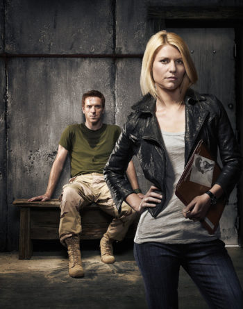 """Damian Lewis, left, and Claire Danes, starring in """"Homeland,"""" which won the Emmy Award for best drama series. Lewis and Danes also each won an Emmy -- for best actor and actress.  (Showtime)"""