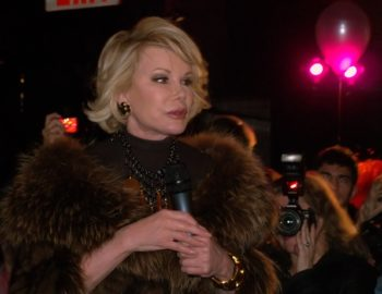 Joan Rivers, seen here speaking at a party in New York in 2010, told an Australian newspaper that she has undergone 739 plastic surgery procedures.  (David Shankbone )