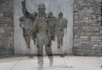 The statue of former Penn State football coach Joe Paterno, who died in January 2012, was taken down on July 22, 2012 in the aftermath of the child sex abuse scandal at the school involving one of his former assistant coaches. (Mock up via CC)