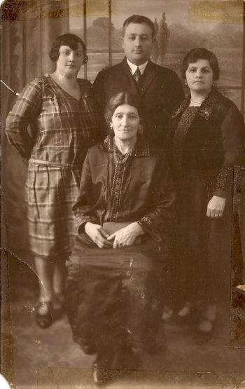 Hillel Kuttler's great-great-grandmother, Leah Eisen, sitting, poses in her native Lodz, Poland -- but who is standing behind her?   (Courtesy Helen Markowitz)