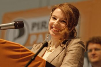 The Pirate Party's Marina Weisband, who is Jewish, was voted the sexiest female politician in Germany in an online poll conducted by Playboy.  (Eigenes Werk)