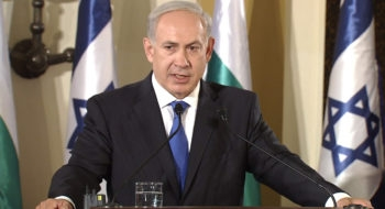 Israeli Prime Minister Benjamin Netanyahu speaking at a joint news conference with Bulgarian Prime Minister Boyko Borissov in Jerusalem, Sept. 11, 2012.  (Itay Beit-On/GPO)