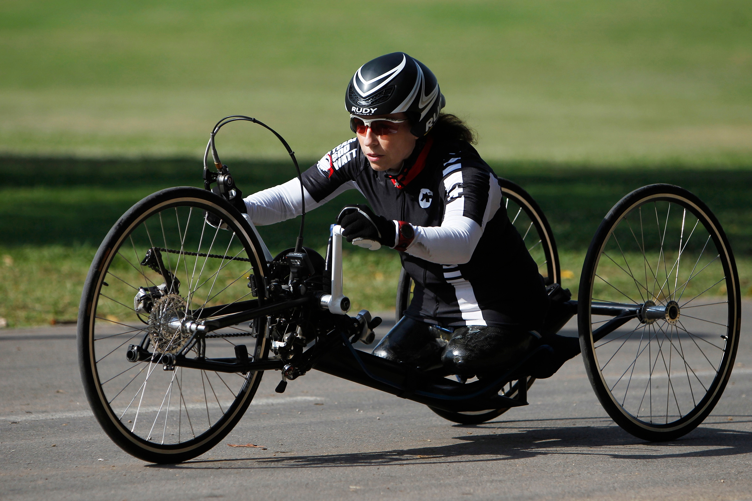 Pascale Bercovitch, an Israeli hand-cyclist who competed in the 2012 London Paralympics, is shooting for a medal in 2016. (Pascale Bercovitch)