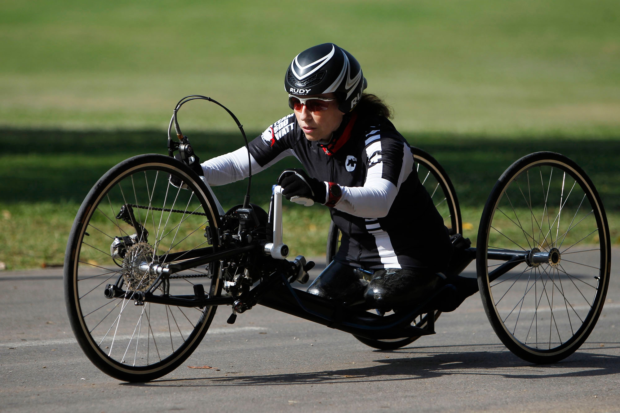 Israeli Paralympic handcyclist Pascale Bercovitch