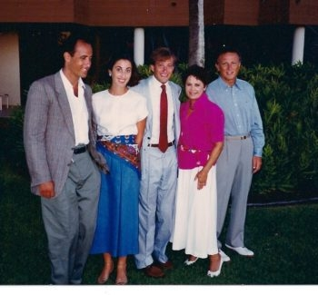 Phyllis Fields, second from right, during a 1989 family trip to Hawaii. (Courtesy Fields family)