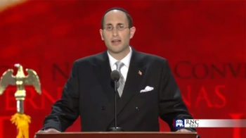 Rabbi Meir Soloveichik giving an invocation to begin the first full day of activities at the Republican National Convention in Tampa, Fla., Aug. 28, 2012. (Republican National Convention)