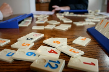 Tiles of Rummikub, a game invented by Ephraim Hartzano in Israel in the 1940s.  (Ryan Harvey/CC)
