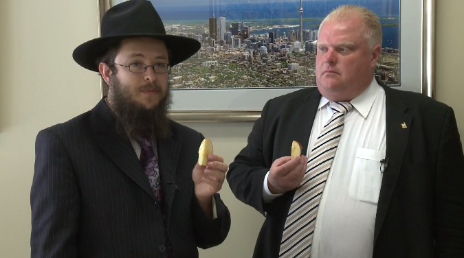 toronto mayors crack  rosh hashana video jewish telegraphic agency